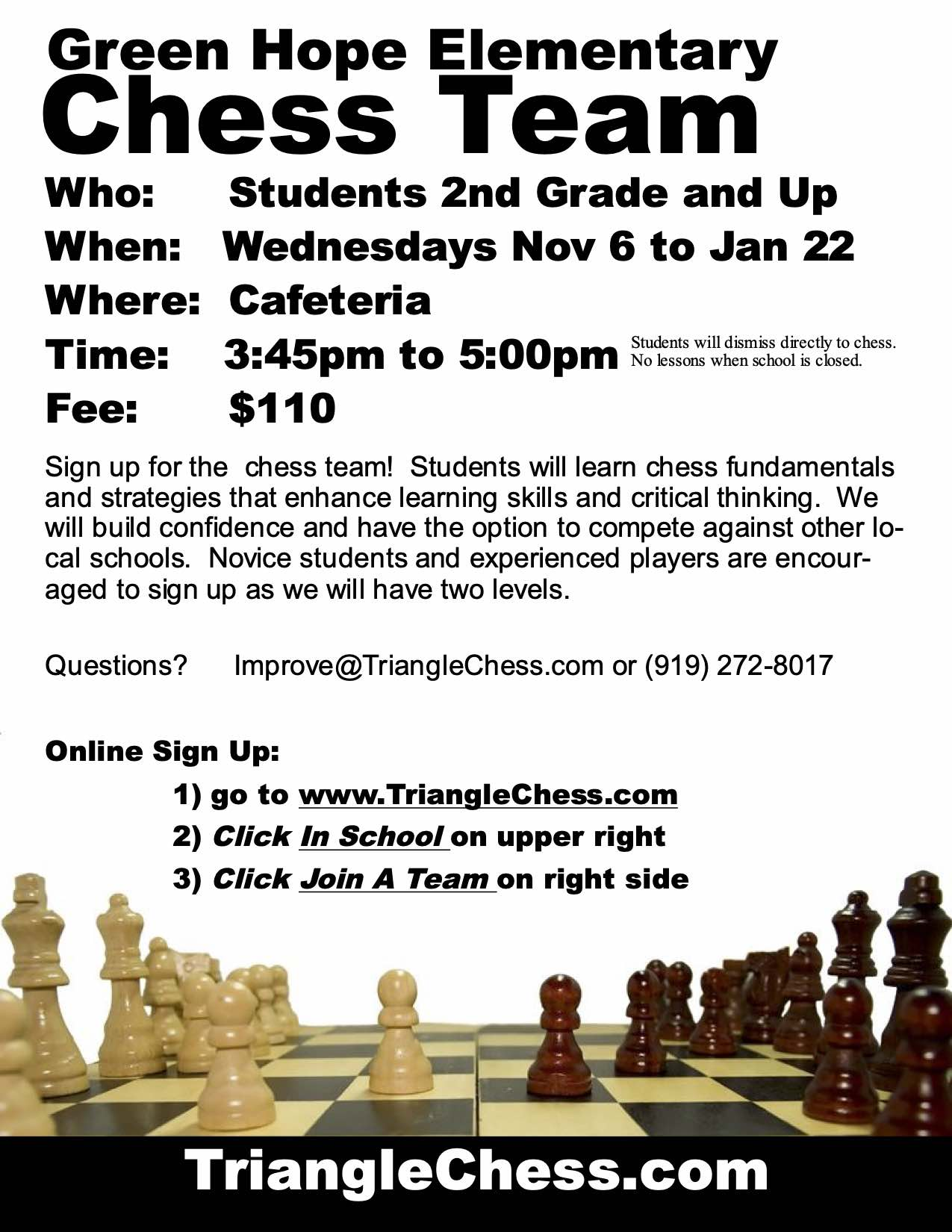 GHE Chess Club Sign-up